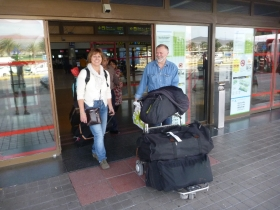 Eva og Dag kommer til Las Palmas