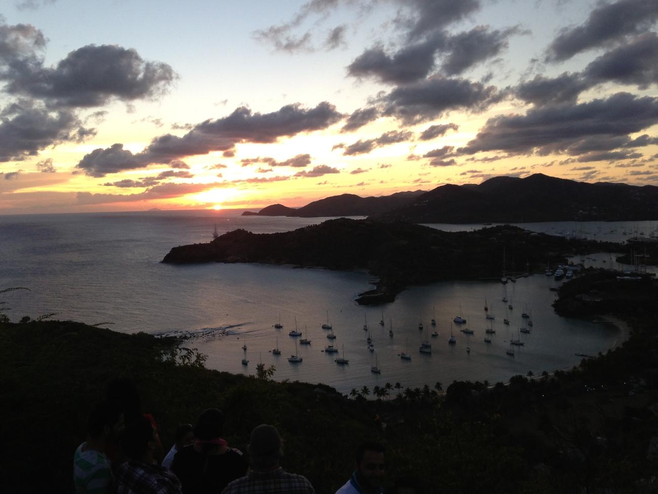 Utsikt fra Shirley Heights. Antigua